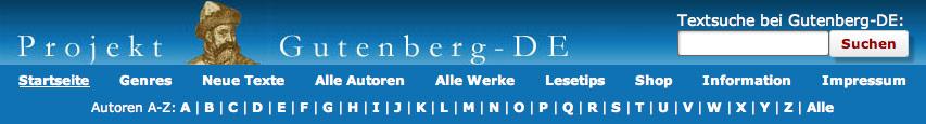 Mit einem Klick aufs Bild geht es zum Projekt Gutenberg.