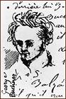 Georg Büchner - skizziert von A. Muston