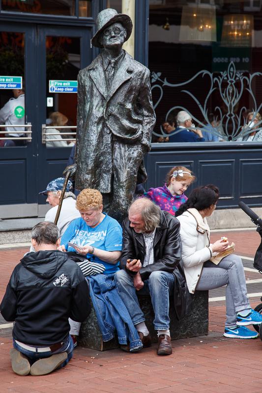 James Joyce in der Earl Street North