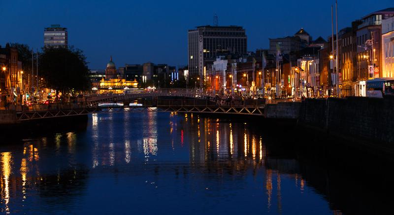River Liffey am Abend