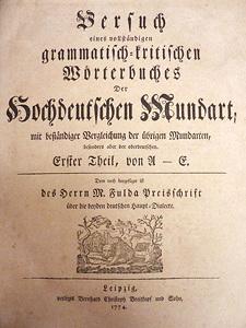 Wörterbuch der hochdeutschen Mundart