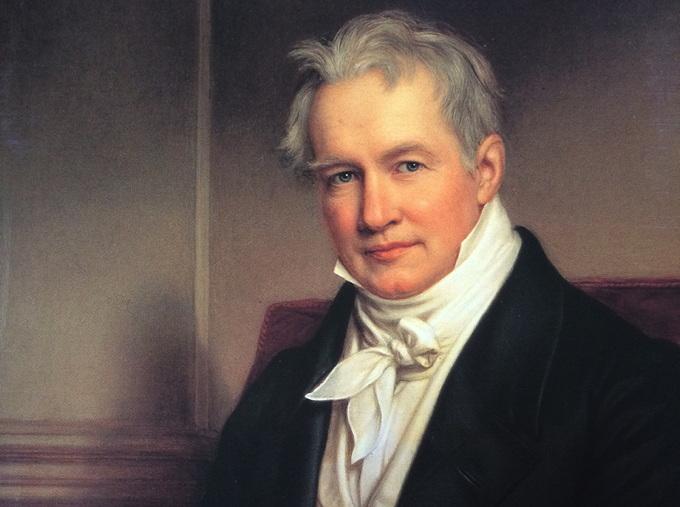 Alexander von Humboldt - Gemälde von Joseph Stieler