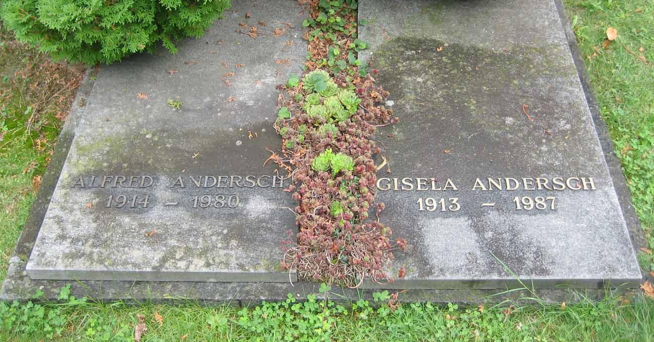 Grabmal Alfred und Gisela Andersch