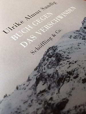 Sandig - Buch gegen das Verschwinden