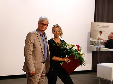 Werner Pietsch, Kelag, mit Valerie Fritsch.
