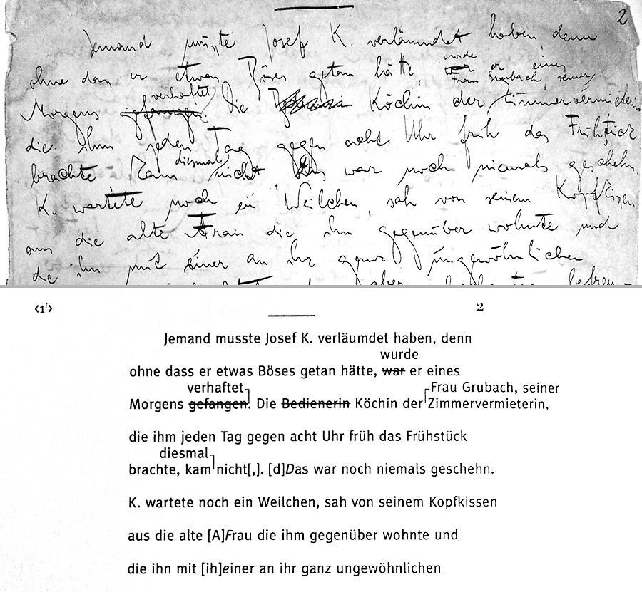 Process - Handschrift und diplomatische Umschrift