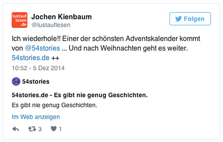 Tweet zu 54stories