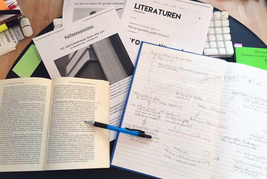 Grosse Literatur - Arbeit am Versuch