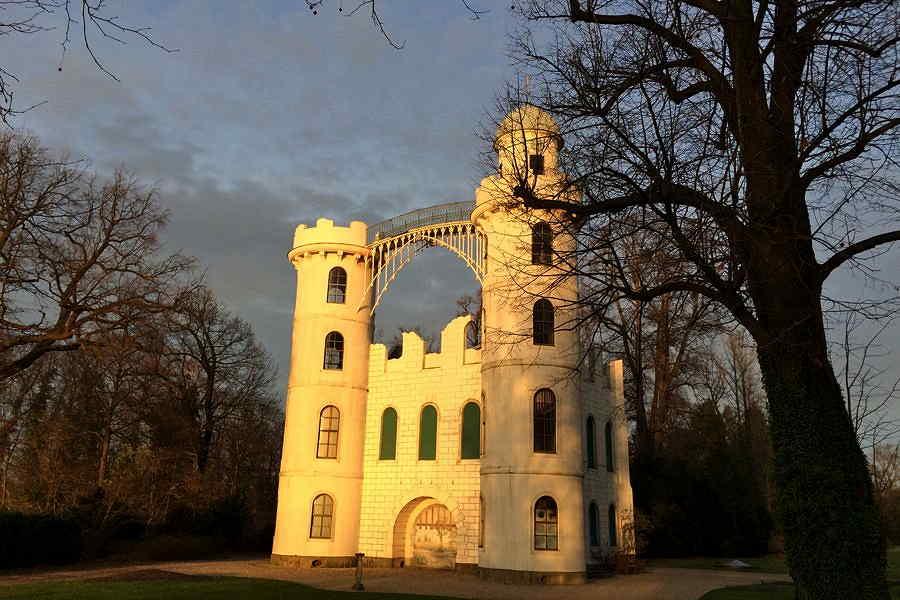 Das Schloss in der Abendsonne