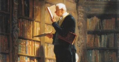 Wie ich lese - Carl Spitzweg: der Bücherwurm