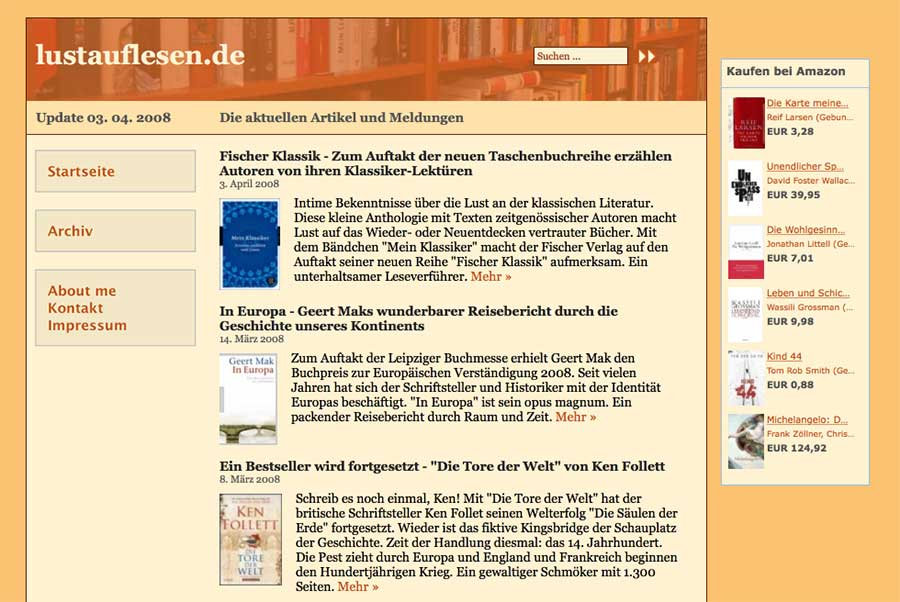 lustauflesen.de - im Jahr 2008