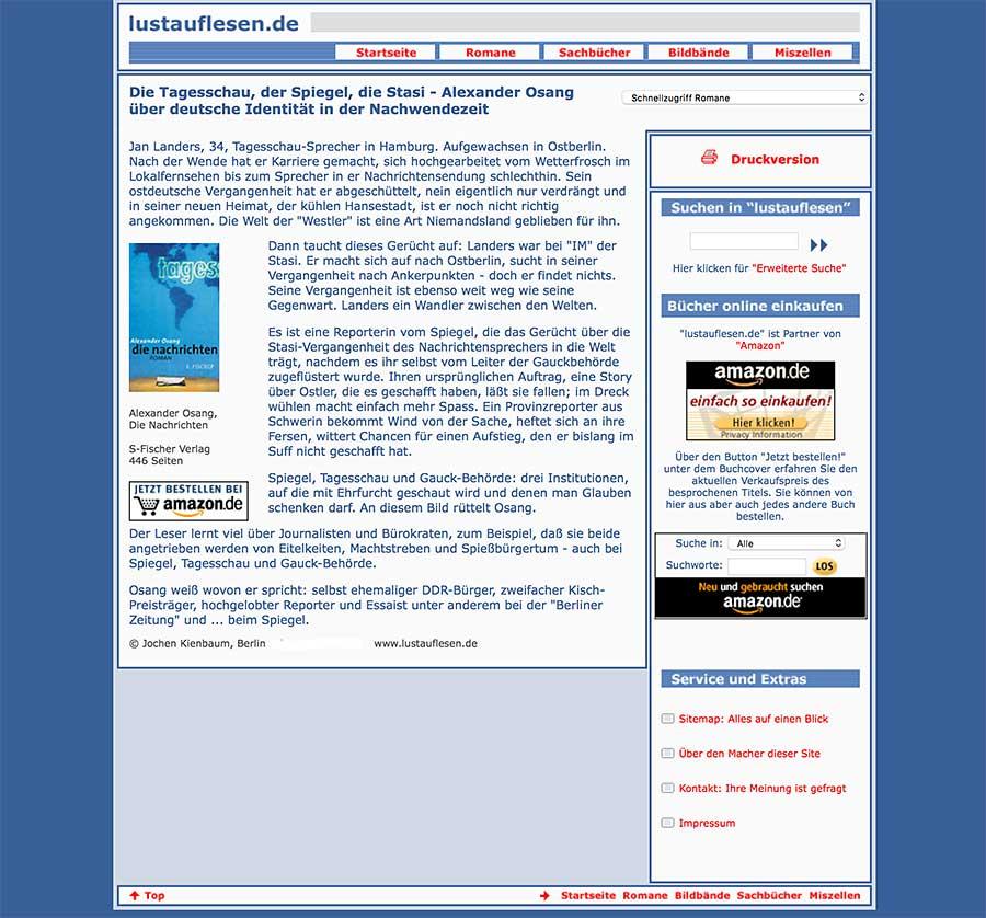 lustauflesend.de - Der erste Text