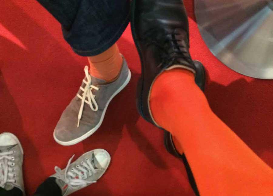 Orange Socken