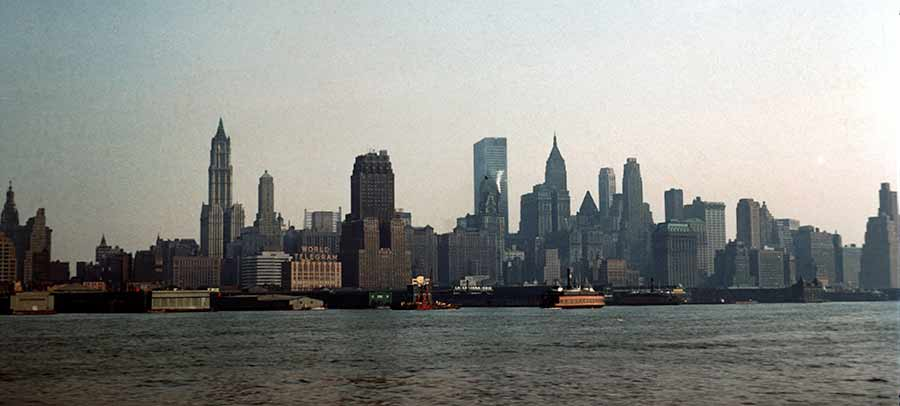 New York Skyline um 1960