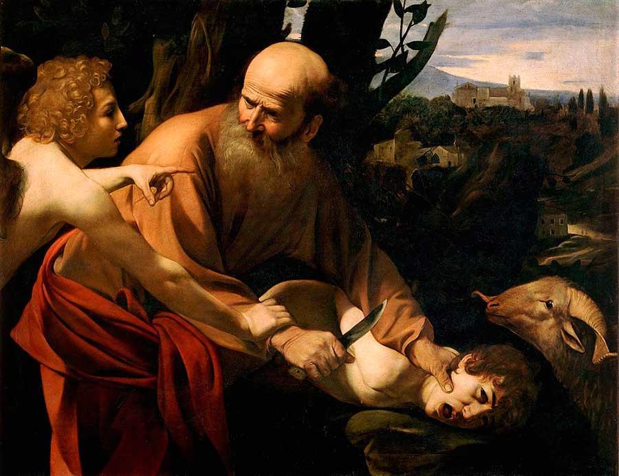 Caravaggio, Das Opfer des Isaak